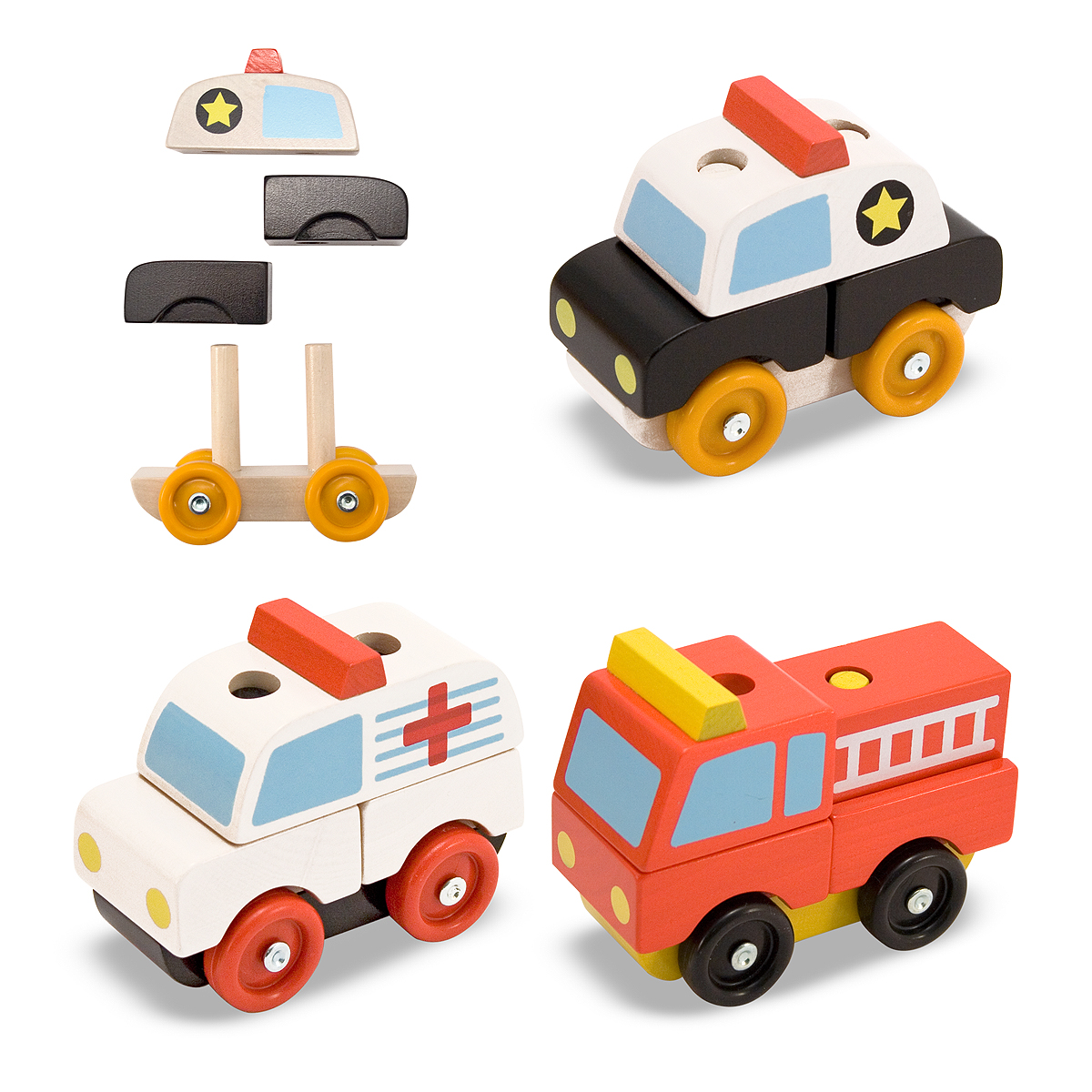WOODEN STACKING EMERGENCY VEHICLES