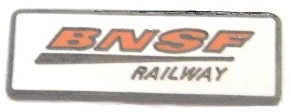 BNSF RAILWAY LOGO METAL HAT PIN