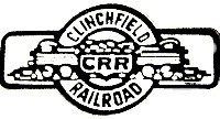 CLINCHFIELD RAILROAD LOGO METAL HAT PIN
