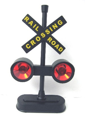 RAILROAD CROSSING FLASHING LIGHTS WITH SOUNDS