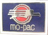 MISSOURI PACIFIC RAILROAD LOGO METAL HAT PIN