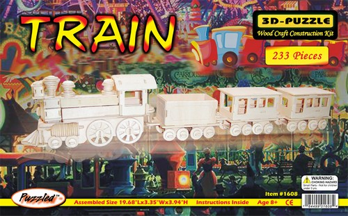 STEAM TRAIN WOOD-CRAFT KIT