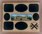"OAKWOOD MULTI-PICTURE FRAME - ""STEAM ENGINE"""