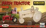 FARM TRACTOR WOOD CRAFT 3 D PUZZLE MODEL CONSTRUCTION KIT