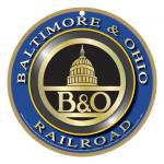 BALTIMORE & OHIO RAILROAD LOGO PLAQUE