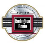 BURLINGTON ROUTE RAILROAD LOGO PLAQUE