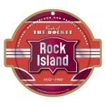 ROCK ISLAND RAILROAD LOGO PLAQUE