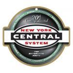 NEW YORK CENTRAL RAILROAD LOGO PLAQUE (CIGAR BAND)